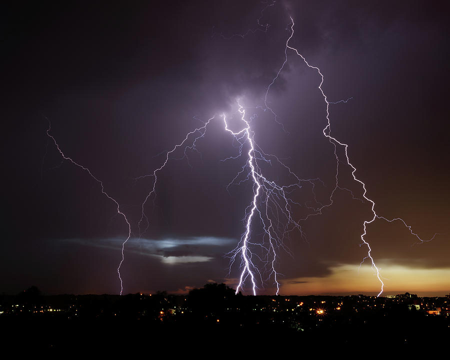Lightning at Dusk by Brad Wenskoski