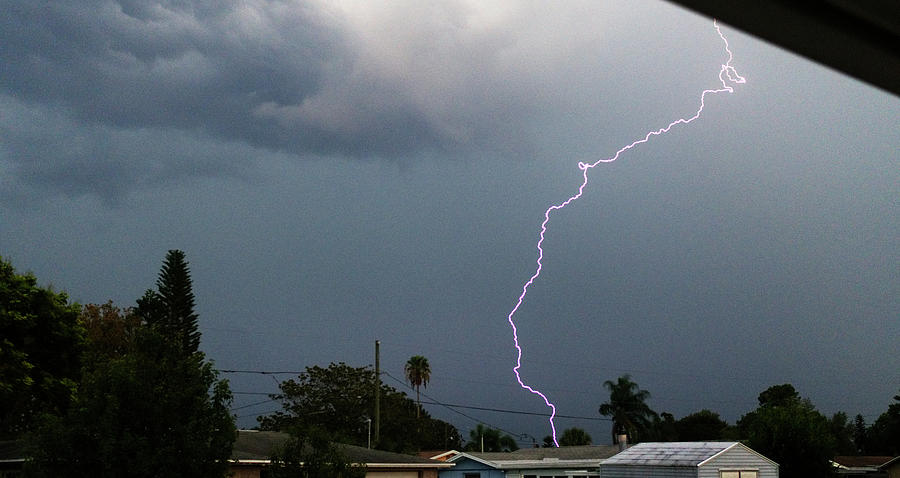 Lightning Bolt Illuminates The Sky by Vincent Billotto