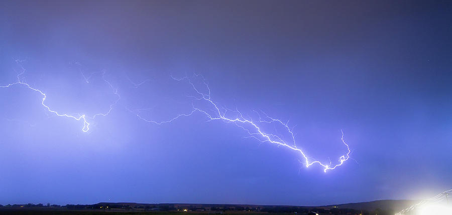 Lightning Photograph - Lightning Bolts Coming In For A Landing Panorama by James BO  Insogna
