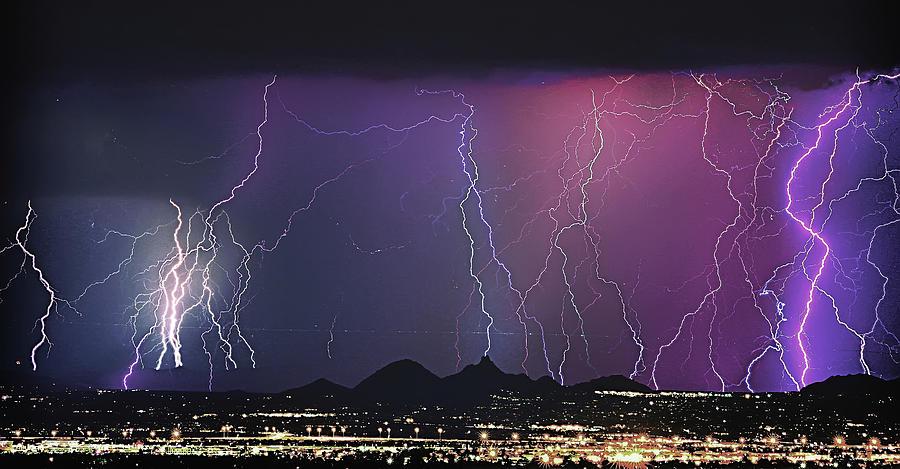 Lightning Photograph - Lightning City by James BO  Insogna