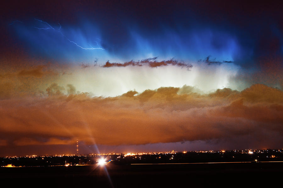 bo Insogna Photograph - Lightning Cloud Burst Boulder County Colorado Im34 by James BO  Insogna