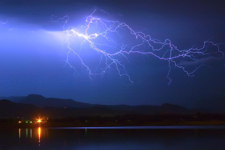 Lightning Photograph - Lightning From Heaven by James BO  Insogna