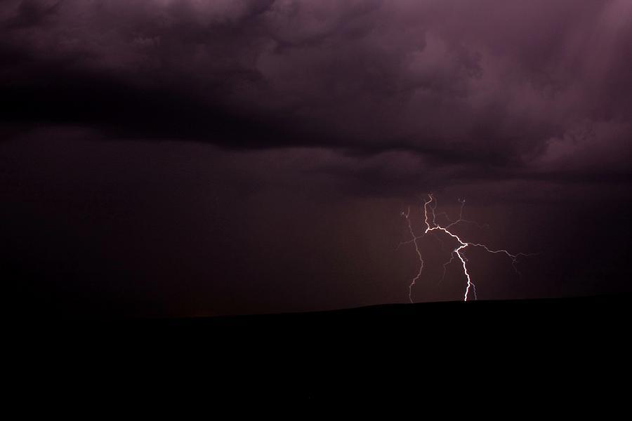 Storm Photograph - Lightning by Harley J  Winborn