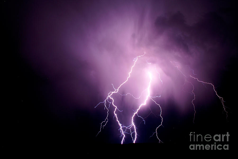 Electrifying Photograph - Lightning In The Desert by Jeffrey Worthington