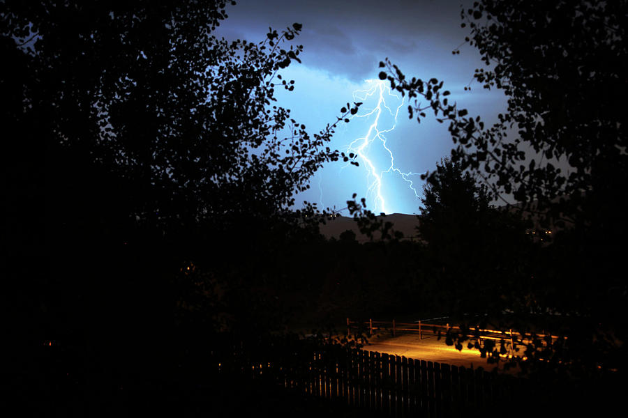 Lightning Photograph - Lightning On The Distant Mountains by Dan Pearce