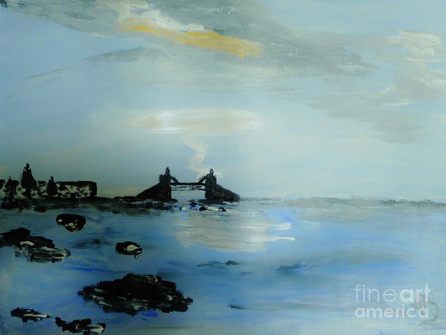 Lightning Over Lake Erie Painting by Marie Bulger