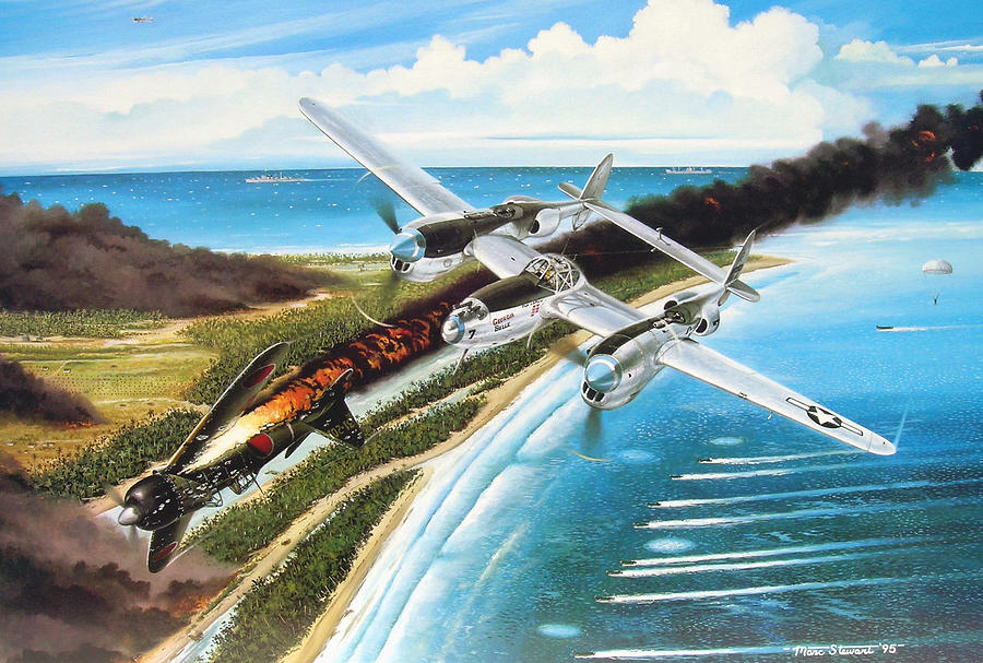 Aviation Painting - Lightning Over Mindoro by Marc Stewart