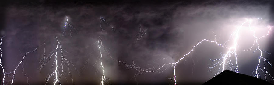 Lightning Photograph - Lightning Over Perris by Anthony Jones