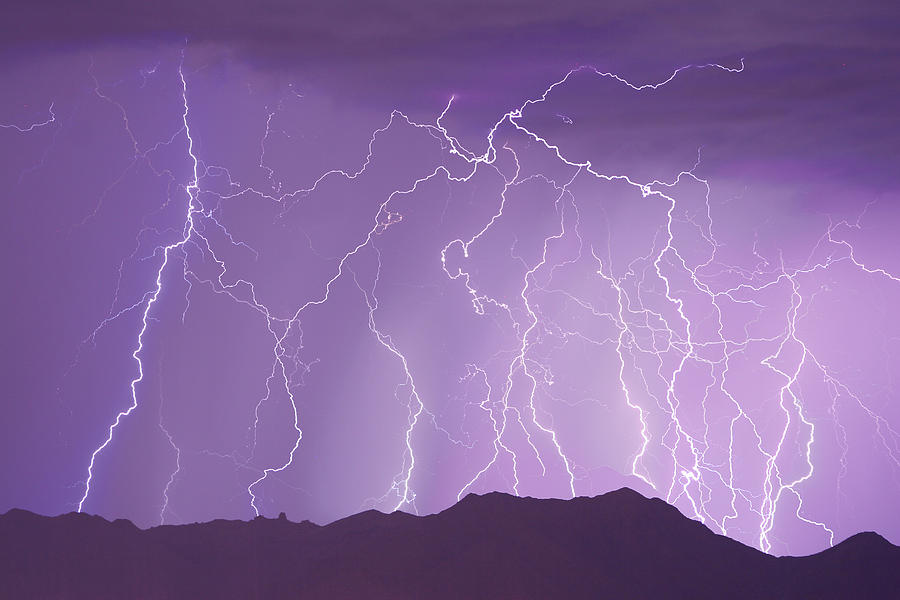 Lightning Photograph - Lightning Over The Mountains by James BO Insogna