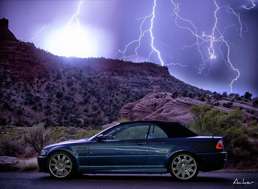 Bmw Photograph - Lightning Storm by Aaron Acker