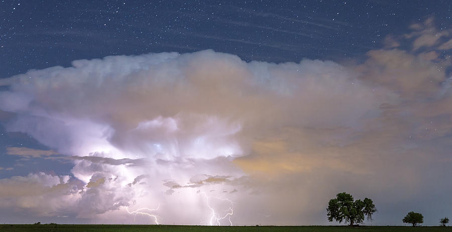 Lightning Thunderstorm On The Colorado Plains Photograph