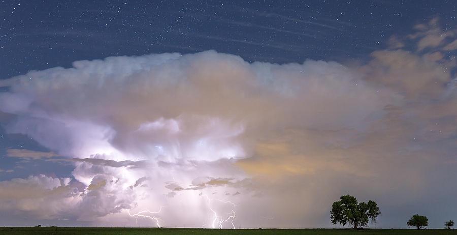 Lightning Thunderstorm On The Colorado Plains Photograph