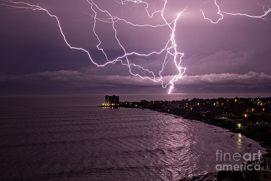 Weather Photograph - Lightning Up The Night by Bob Hislop