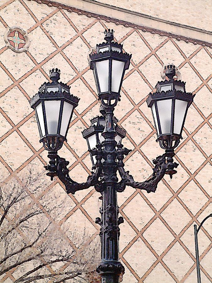 Urban Photograph - Lightpost by Carl Perry