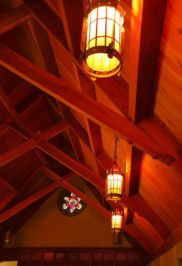 Roof Photograph - Lights And Beams by Steven Ainsworth