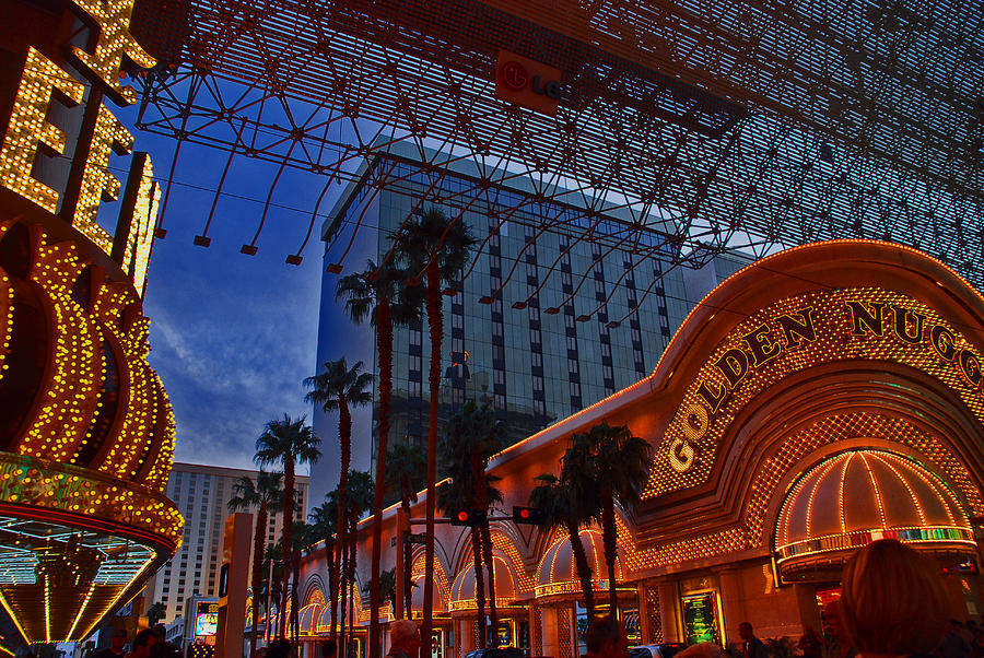 Photography Photograph - Lights In Down Town Las Vegas by Susanne Van Hulst