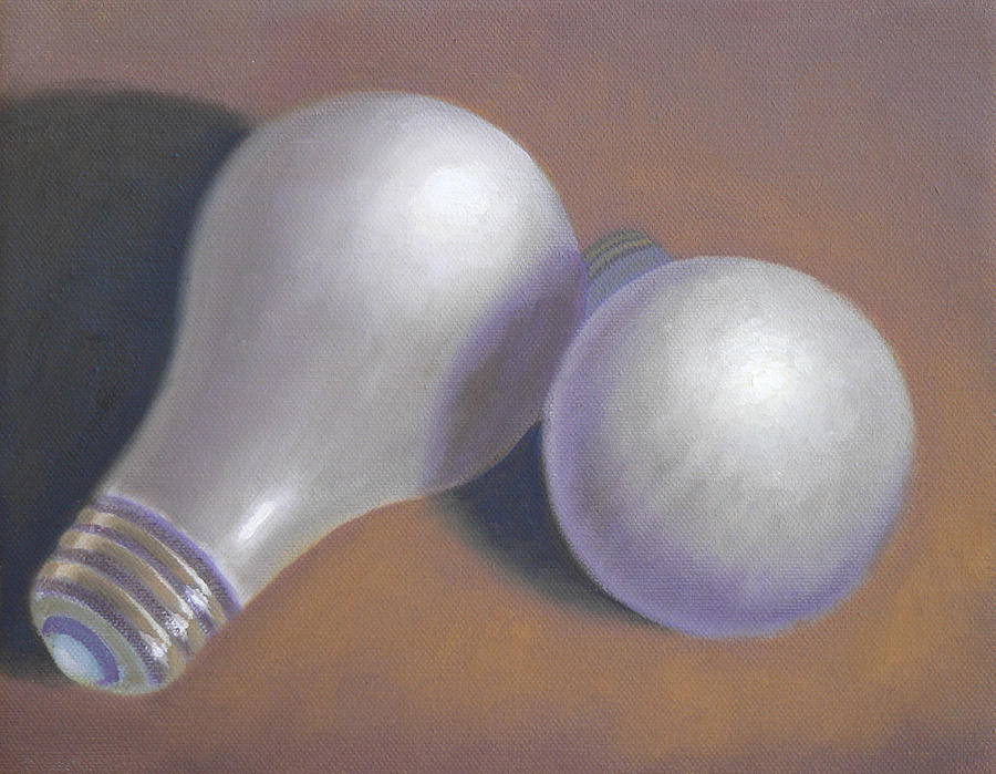 Still Life Painting - Lights Out by Bart  Dluhy
