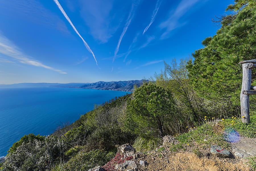 Liguria Photograph - Liguria Paradise Gulf Panorama by Enrico Pelos