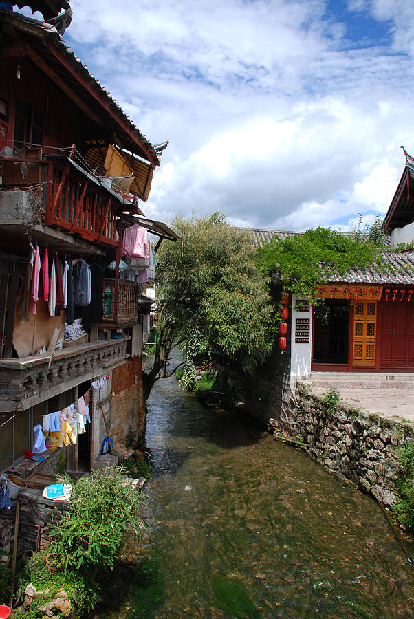 Landscapes Photograph - Lijiang Homes by Eva Glykou