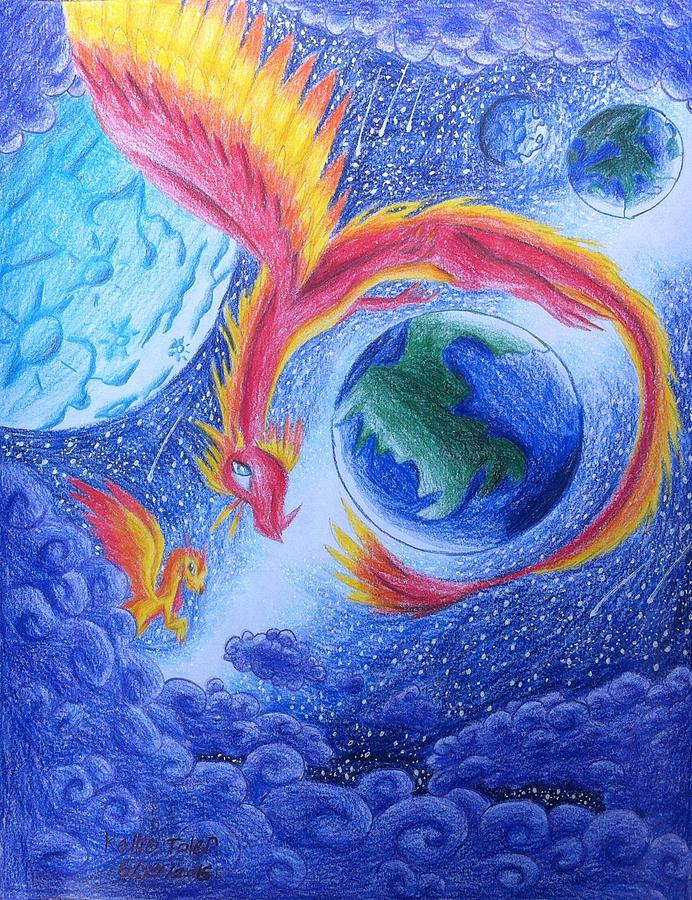 Dragon Drawing - Like A Dream by Kellie Toler