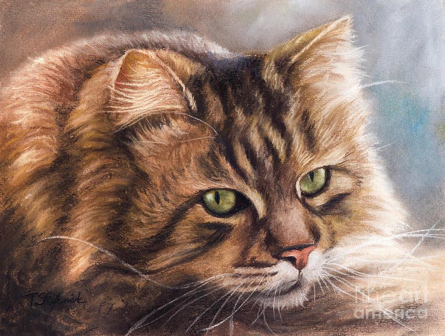 Cats Painting - Like A Tiger by Tobiasz Stefaniak