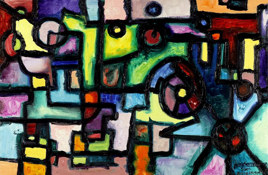 Clockwork Painting - Like Clockwork by Regina Valluzzi