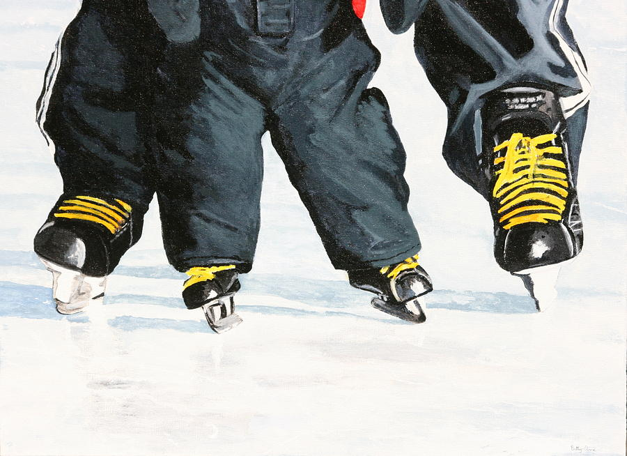 Skates Painting - Like Father Like Son by Betty-Anne McDonald