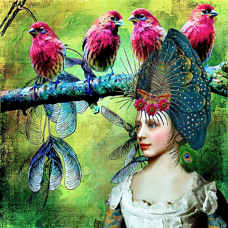 Birds Painting - Like Minded Magnificence by Laura Botsford