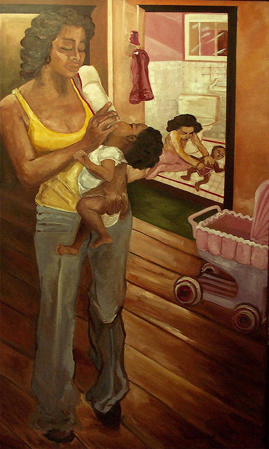 Family Painting - Like Mommy by Amira Najah Whitfield