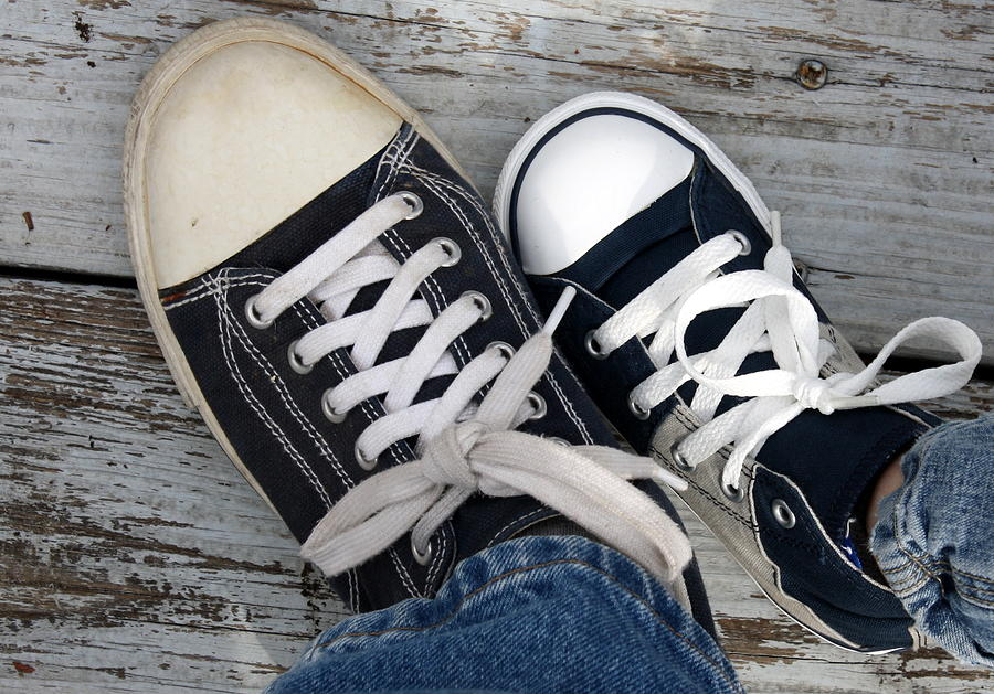 Sneakers Photograph - Like Mother Like Son by Annie Babineau