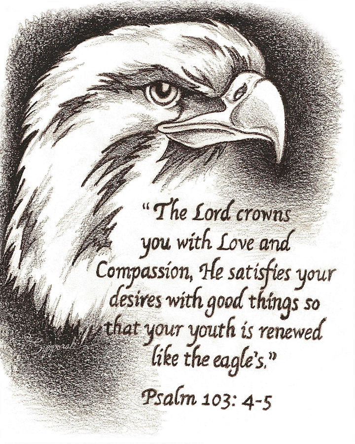 Crown Mixed Media - Like The Eagle by Sipporah Art and Illustration