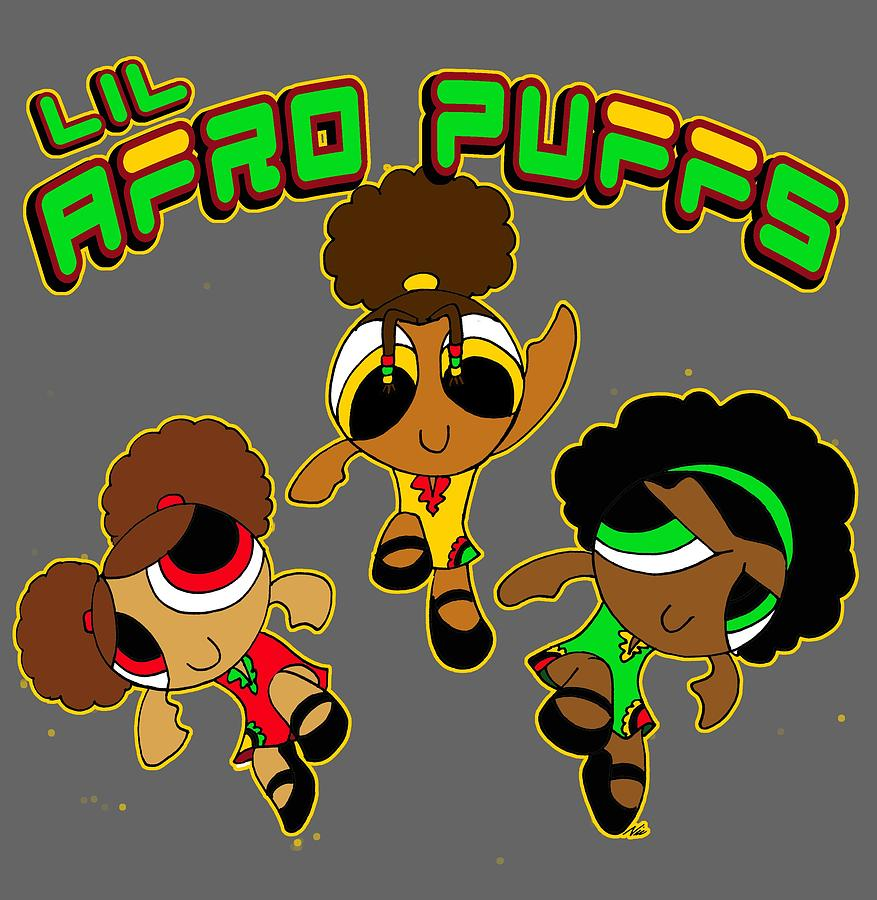 Awe Inspiring Lil Afro Puffs Digital Art By Nic The Artist Natural Hairstyles Runnerswayorg