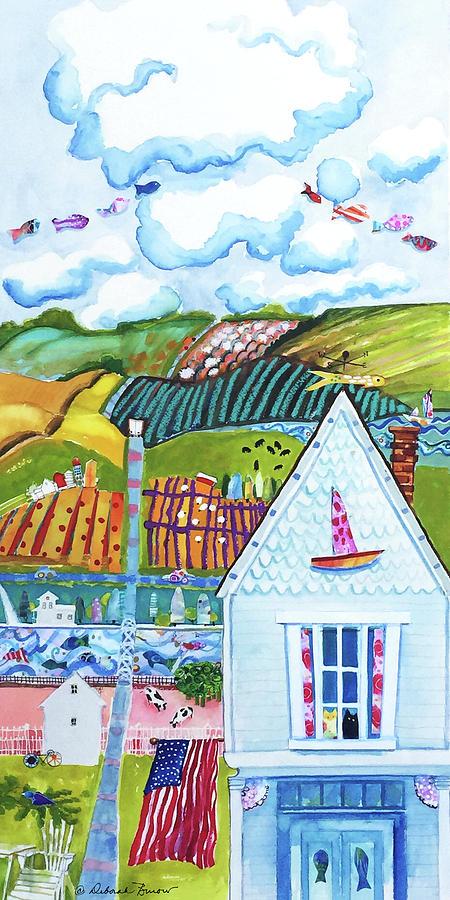 Farmland Painting - Lil Bit Country, Lil Bit Jersey by Deborah Burow