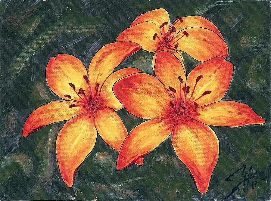 Flower Painting - Lil Ease by Dave Herrling