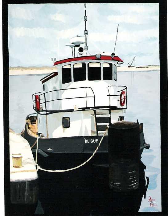 Lil Guy Tugboat Painting by David Ellis