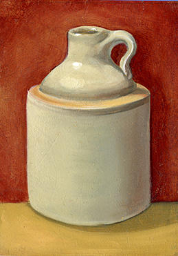 Still Life Painting - Lil Jug by Kristine Mobley