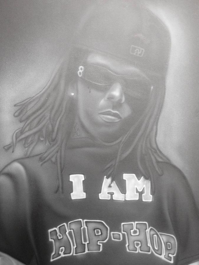 Weezy Painting - Lil Wayne Original Art by Charles Thomas