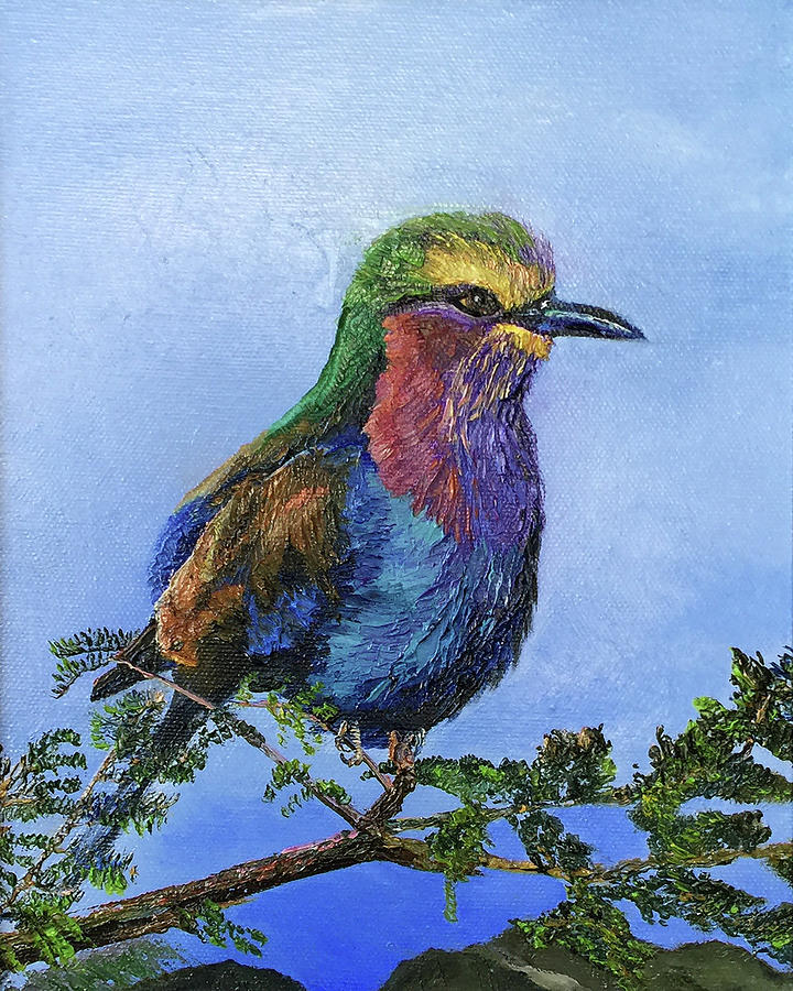 Bird Painting - Lilac Breasted Roller by Terry R MacDonald