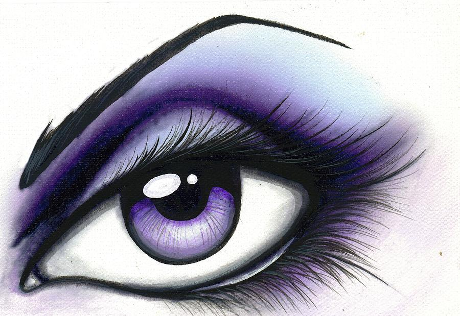 Fantasy Eye Painting - Lilac by Elaina  Wagner