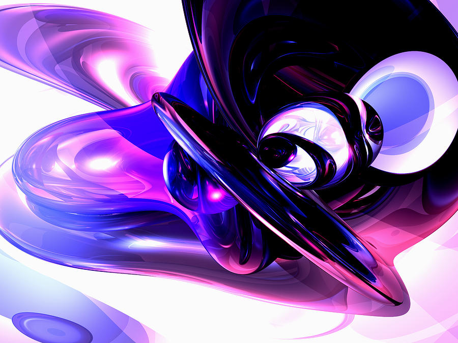 3d Digital Art - Lilac Fantasy Abstract by Alexander Butler
