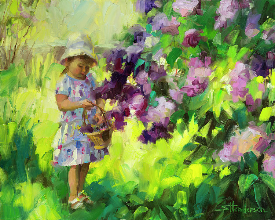Lilac Festival Painting