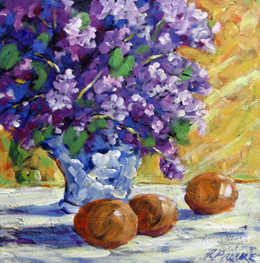 Painting Painting - Lilac by Richard T Pranke