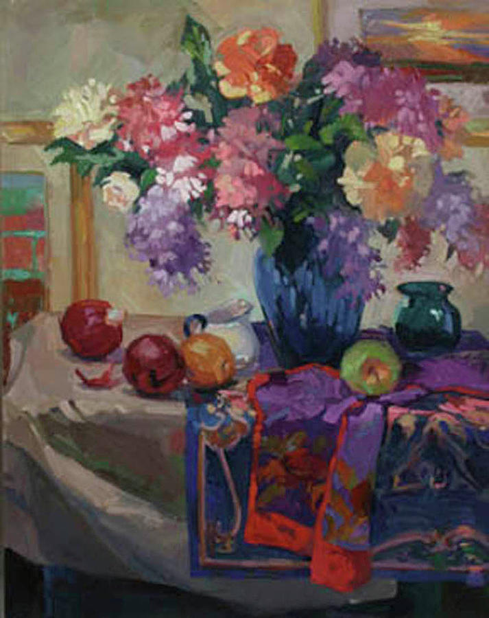 Lilacs and Peonies by Betty Jean Billups