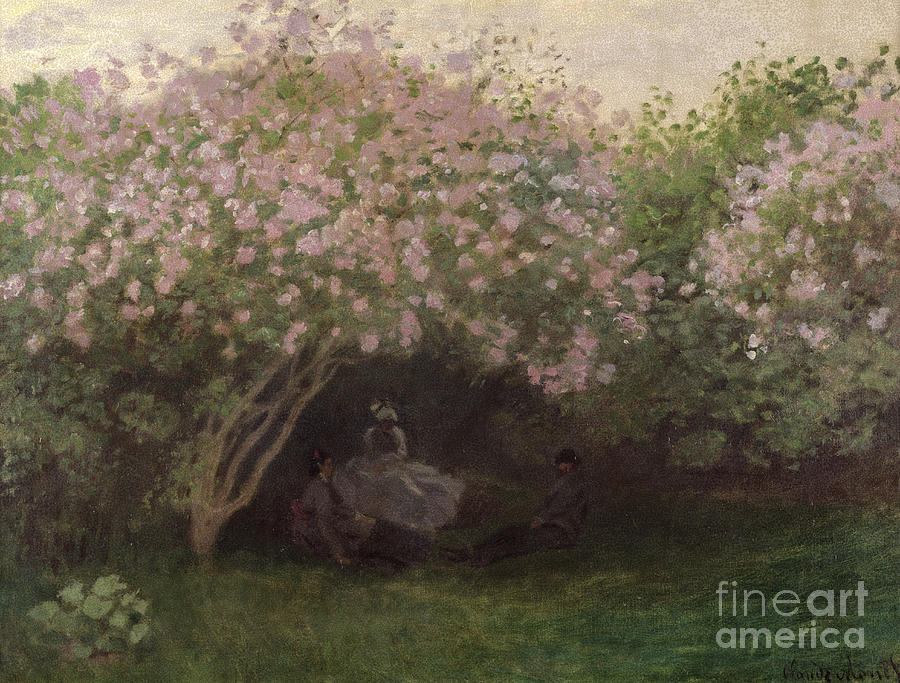 Lilacs Painting - Lilacs by Claude Monet