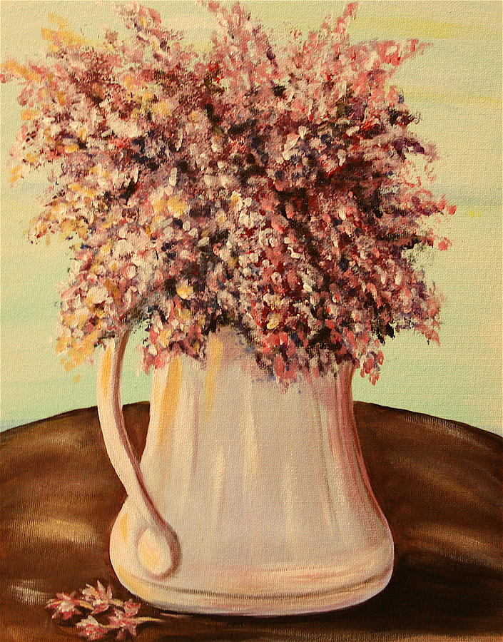 Lilacs Painting - Lilacs For Mom by Dyanne Parker