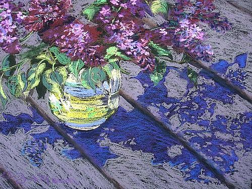 Lilacs Painting by Gloria Nilsson