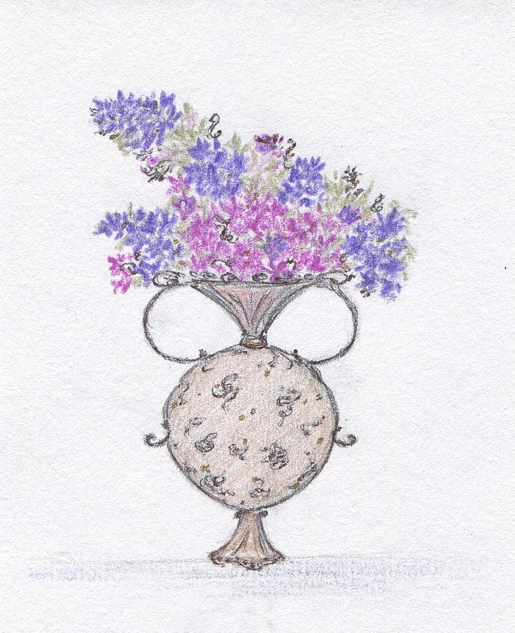 Lilacs Painting - Lilacs In An Urn by Christine Corretti
