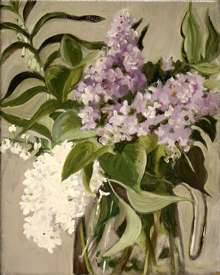 Still-life Painting - Lilacs by Sarah Lynch