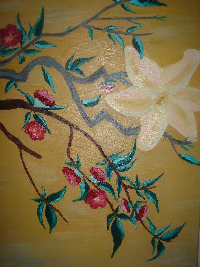 Flowers Painting - Lilie by Christine Geadah