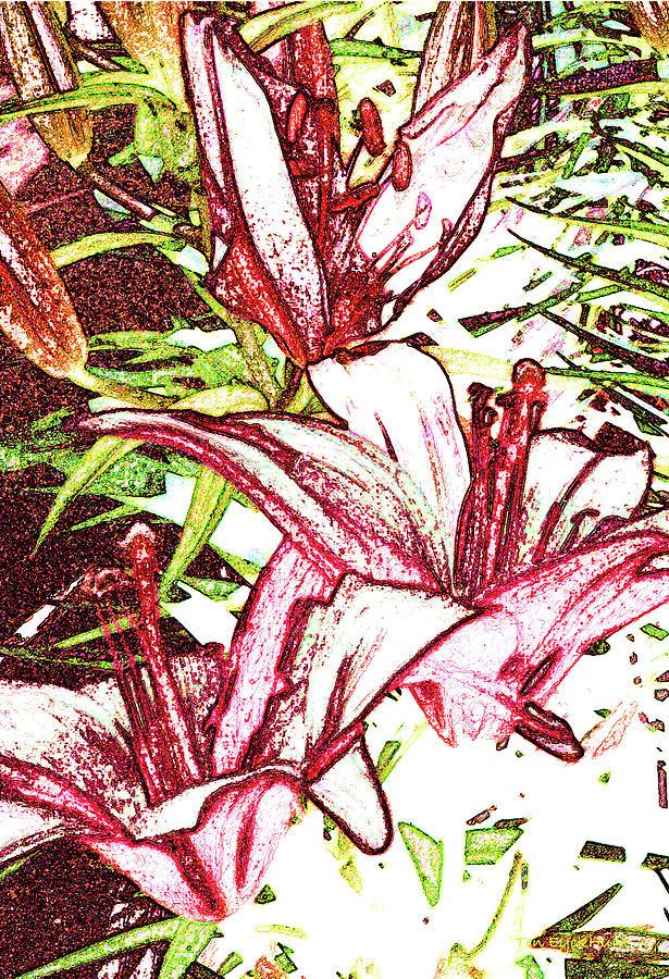 Lilies  by Gretchen Ten Eyck Hunt